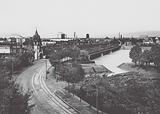 Strasbourg / Strasburg: Les ponts du Rhin, Vue vers Kehl