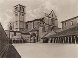 Assisi: Veduta generale della Basilica di S Francesco