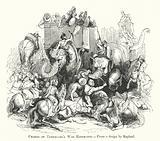 Charge of Tamerlane's War Elephants
