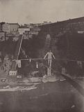 Niagara Falls: Dixon crossing the Niagara River on a Tight-Rope