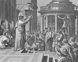 Paul preaching at Athens, Acts, Chapter 17, Verses 16-34