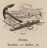 Le Vocabulaire Illustre: Ancre; Anchor; Anker
