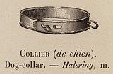 Le Vocabulaire Illustre: Collier (de chien); Dog-collar; Halsring