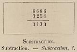 Le Vocabulaire Illustre: Soustraction; Subtraction