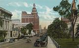 New Haven, Conn: Elm Street, looking East from College