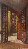 Door leading to the Domestic Chapel in the Convent of Tepotzotlan, Mexico
