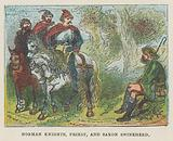 Norman knight, priest and Saxon swineherd