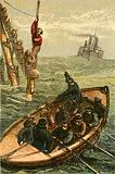 The life boat Bradford saving the crew of the barque Scott