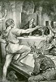 Beowulf replies haughtily to Hunferth