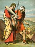 Moses and Joshua seeing the Golden Calf