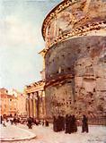 Pantheon, a flank view