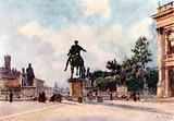 Bronze statue of Marcus Aurelius on the Capitol