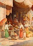 In a Burmese bazar