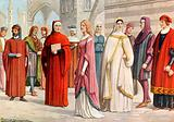 Tuscan costumes of the 13th century