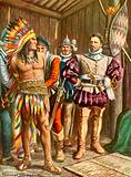 Ferdinando Cortes imprisoning Montezuma