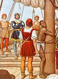 Vasco de Gama whipping a traitor