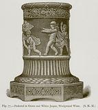 Pedestal in Green and White Jasper, Wedgwood Ware