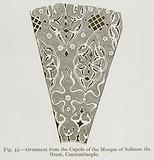 Ornament from the Cupola of the Mosque of Soliman the Great, Constatinople