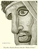 """Head in Mosaic, from the """"Battle of Issus"""""""