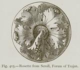 Rosette from Scroll, Forum of Trajan