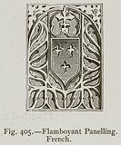 Flamboyant Panelling, French