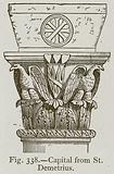 Capital from St Demetrius