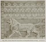 Lion, from the Lion Frieze in Enamelled Bricks at Susa