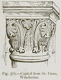 Capital from St Cross, Winchester