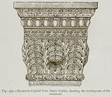 Byzantine Capital from Santa Sophia, showing the Bossing-Out of the Ornament