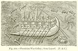 Phoenician War Galley; from Layard