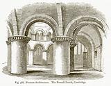 Norman Architecture. The Round Church, Cambridge