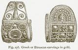 Greek or Etruscan Ear-Rings in Gold