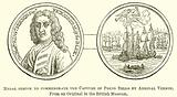 Medal struck to Commemobate the Capture of Porto Bello by Admiral Vernon
