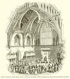 Trial of Lambert before Henry VIII in Westminster Abbey