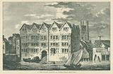 A View of Cold Harbour in Thames Street, about 1600
