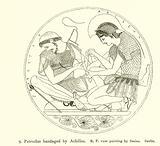 Patroclus bandaged by Achilles