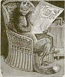 Fox reading the poulty fanciers gazette
