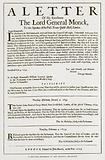 A Reduced Facsimile of the Original Broadside