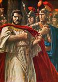The emperor Caracalla about to be killed by Julius Martialis