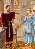 Augustus punishing his daughter Julia