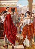 Ortensia protesting in the Forum