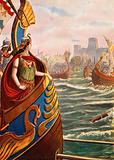 Cleopatra at the battle of Actium