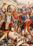 Lucullus fighting to stop the advance of Mithridates