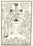 King Cnut and his Queen, Emma, Presenting a Cross upon the Altar of Newminster (Winchester)