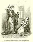 Fair Rosamond compelled to drink Poison by Queen Ellinor
