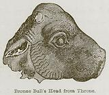 Bronze Bull's Head from Throne