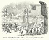Cheapside, with the Procession of Mary de Medicis on her Visit to Charles I and his Queen