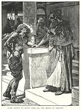 Cushi brings to David News of the Death of Absalom
