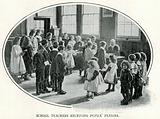 School Teachers receiving Pupils' Pennies