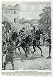 Piers Gaveston Leaves Dedington on a Mule
